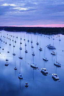 Sailing boats on the River Odet, Benodet, Finistere, Brittany, France, Europe