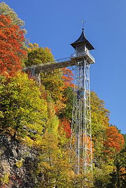 Elevator, art nouveau, Bad Schandau, Elbsandstein Mountains, Saxony Switzerland, Saxony, Germany, Europe
