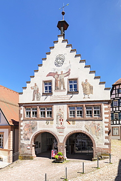 Town hall, market place, Schiltach, Black Forest, Kinzigtal Valley, Baden-Wurttemberg, Germany, Europe