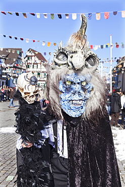 Fantasy monster costume, Swabian Alemannic Carnival, Gengenbach, Black Forest, Baden Wurttemberg, Germany, Europe