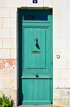 Traditional door, Ile De Re, France