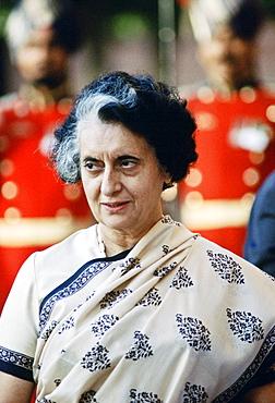 Indian Prime Minister Indira Ghandi, India