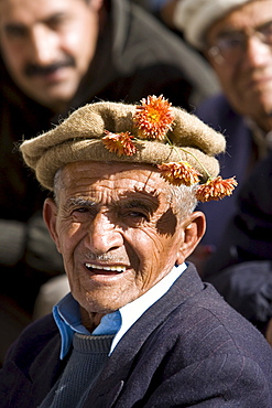 Man in mountain village of Altit in Hunza region of Karokoram Mountains, Pakistan