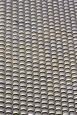Balconies of a Bangkok apartment block, Thailand