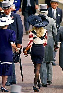 Fashion at Royal Ascot races, England