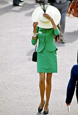 Fashion at Royal Ascot races, UK.