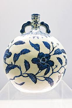 Porcelain vase of Jingdezhen origin on display in the Shanghai Museum, China