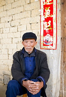 Elderly man in Fuli Old Town, Xingping, China
