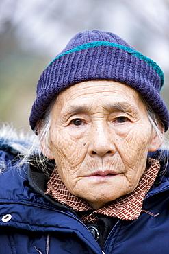 Elderly Chinese woman in Chongqing, China