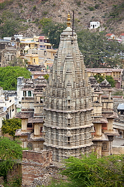 Jagat Shiromani Hindu Krishna Temple, built 11th Century dedicated to Vishnu in Jaipur, Rajasthan, Northern India