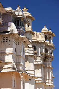 The City Palace of 76th Maharana of Mewar, His Highness, Shriji Arvind Singh Mewar of Udaipur, the Zenana Mahal, Rajasthan, India