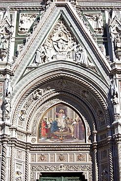 Il Duomo di Firenze, Cathedral of Florence, in Piazza di San Giovanni, Tuscany, Italy