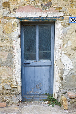 Doorway in Comune di Montalcino, Val D'Orcia,Tuscany, Italy