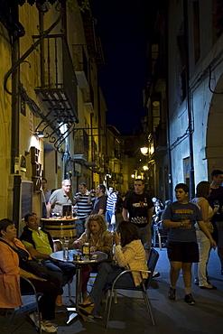 Nightlight in Laguardia in the Rioja-Alavesa province of Northern Spain