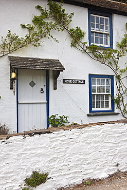 Rose Cottage at Helston on the Helford Estuary, Cornwall, England, UK