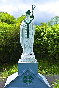 Statue of Irish patron saint St Patrick in Ballingarry, County Limerick, Ireland