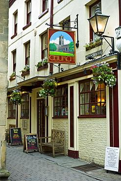 The Church Inn, Tudor architecture in Ludlow, Shropshire, UK