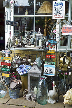 Curiosity shop selling souvenirs, collectibles and gift items in Chipping Campden, The Cotswolds, Gloucestershire