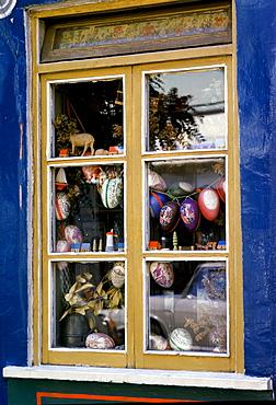 Shop window of curios in Lech, Austria