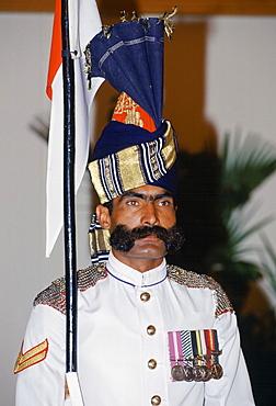 Pakistani soldier in ceremonial uniform in Lahore, Pakistan