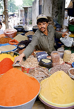 Spices on sale at food market in Islamabad, Pakistan
