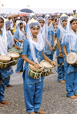 Traditional musicians at cultural display in Colombo, Sri Lanka