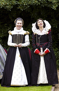 Dancers in costumes re-enact Elizabethan Days in Middle England, United Kingdom
