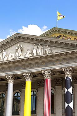 Bavarian State Opera house (Bayerische Staatsoper), in Max-Joseph-Platz in Munich, Bavaria, Germany, Europe