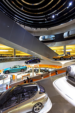 Mercedes-Benz concept cars in their museum gallery and showroom in Mercedesstrasse in Stuttgart, Bavaria, Germany, Europe