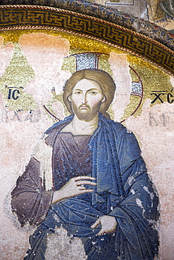 St. Savior Deesis mosaic of Jesus Christ, The Chalkite Christ, Church of St. Saviour in Chora, Kariye Museum, Istanbul, Turkey, Europe