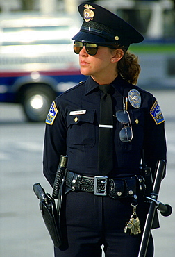 Los Angeles policewoman part of the Los Angeles Police Department (LAPD), USA