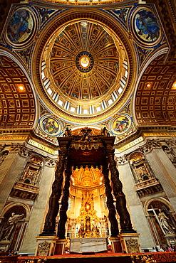 San Pietro Church (St. Peter's Basilica), Vatican City, Rome, Lazio, Italy, Europe