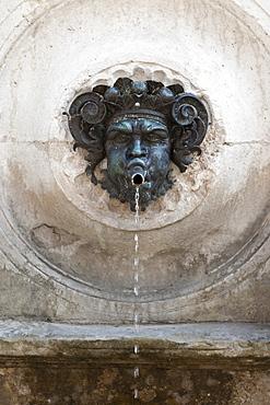 Calamo fountain (Fontana del Calamo) close up, Ancona, Marche, Italy