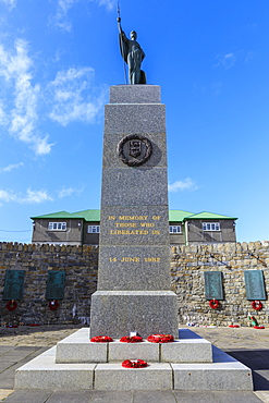 1982 Falklands War Memorial, Liberation Monument, Secretariat, Central Stanley, Port Stanley, Falkland Islands, South America