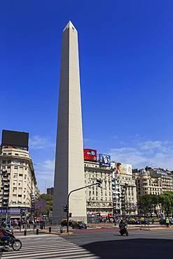 Obelisco, iconic monument, Plaza de la Republica, Avenue 9 de Julio, Congreso and Tribunales, Buenos Aires, Argentina, South America