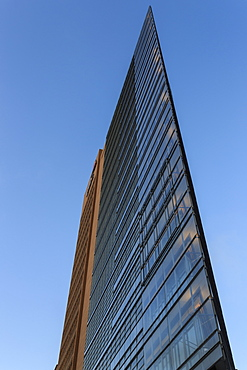 Modern high rise office building, early morning, Potsdamer Platz, Berlin, Germany, Europe