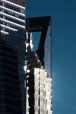 Sunlight reflected off skyscrapers in Pudong district, Shanghai, China, Asia - 1171-249