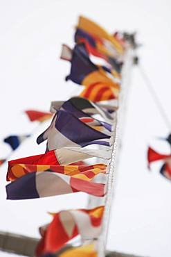 Maritime Flags in Cesenatico, Italy