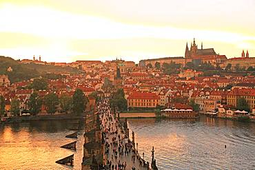Czech Republic, Historic Centre of Prague, UNESCO World Heritage Site, Prague Castle and Charles Bridge