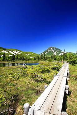 Rausu Lake, Hokkaido, Japan