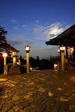 Night View, Todai-ji, Nigatsu-do, Nara, Japan