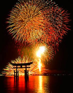 Fireworks at Ootorii, Hiroshima Prefecture, Japan