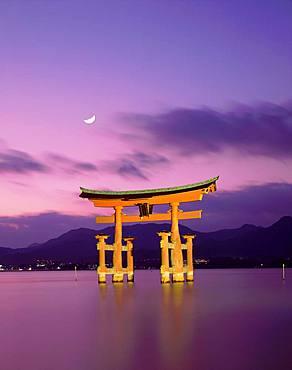 Ootorii at Night, Itsukushima, Hiroshima Prefecture, Japan