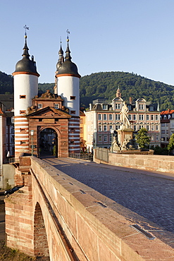 View of Karl-Theodor Bridge Gate at Heidelberg, Germany