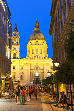 View of St Stephen's Basilica, Budapest, Hungary