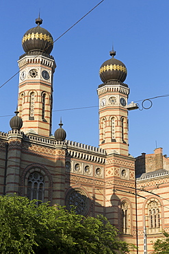 The large moorish-style synagogue inaugurated in 1859, Budapest, Hungary