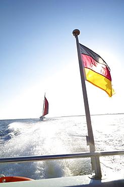 Tours of the Vorpommersche Boddenlandschaft - view from the ferry