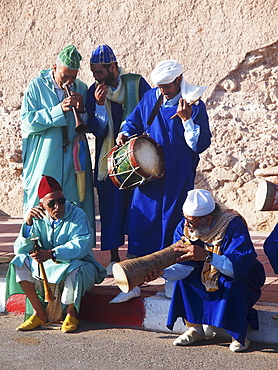 Gnaoua musicians during the Gnaoua festival (third weekend in June) in Essaouira, Morocco