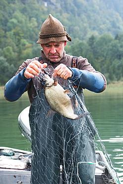 Alois Strobel of the Schretter fishery on Lake Kochel