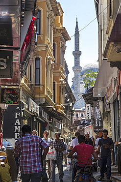 Crowds in the streets of Istanbul, Turkey